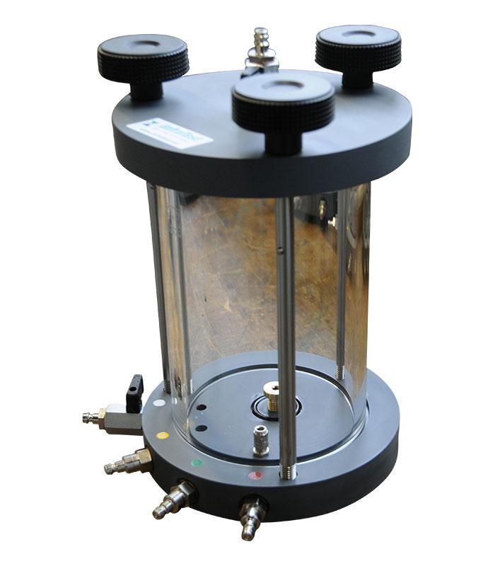 Cellule de perméabilité Ø100mm \ \ Machine d´Essai Triaxiale \ Cellule d'essai Perméabilité