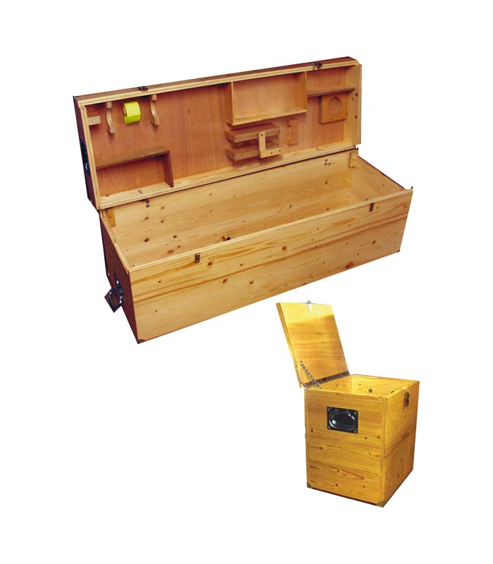 Wooden Case (set of 2) \ \ \ Field Testing Machines \ Transport case