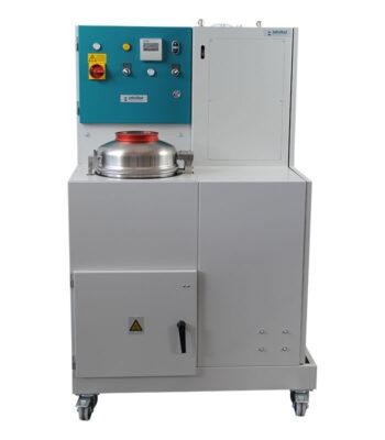 Bitumen Spülmaschine \ \ Entfernung von Bitumenrückständen an Behältern, Rundkolben usw. mittels Lösemittel Trichlorethylen im geschlossenen Kreislauf \ Extraktion \ Bitumen Spülmaschine