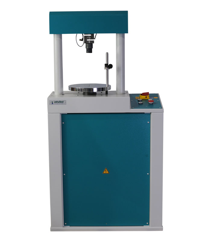 Universal Testing Machine 50kN \ AASHTO|AASHTO T|AASHTO T 245|ASTM|ASTM D|ASTM D 1559|ASTM D 2166|DIN|DIN 18136|EN|EN 12697|EN 12697/34 \ Speed-controlled Marschall and CBR tests, etc., as well as load-controlled tests on option. \ Electromechanical Testing Machines \ UNIPRESS