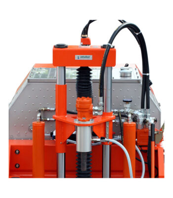 Increasement of the drilling stroke 990mm