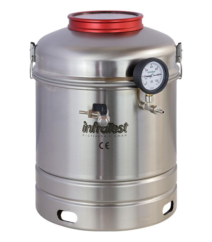 Stainless SteelVacuum Container \ EN|EN 12697|EN 12697/5 \ \ Extraction \ Stainless Steel|Vacuum Container
