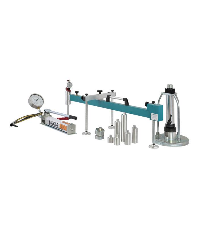 Plattendruckgerät 100kN \ ASTM|ASTM D|ASTM D 1194|ASTM D 1195|ASTM D 1196|BS|BS 1377|DIN|DIN 18134 \ \ Feldprüfgeräte \ Plattendruckgerät