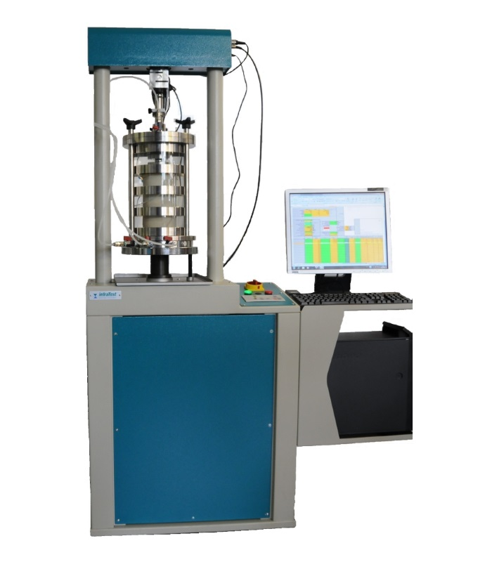 Triaxial Compression Tester 50 kN • EN|EN 7500 • Triaxial Compression Testing Machine • Test machine