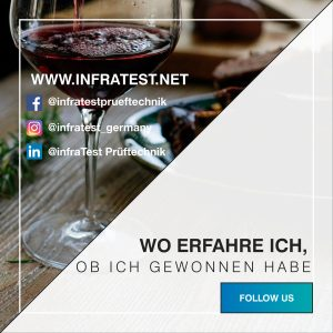 Follow us infraTest Prüftechnik Gewinnspiel