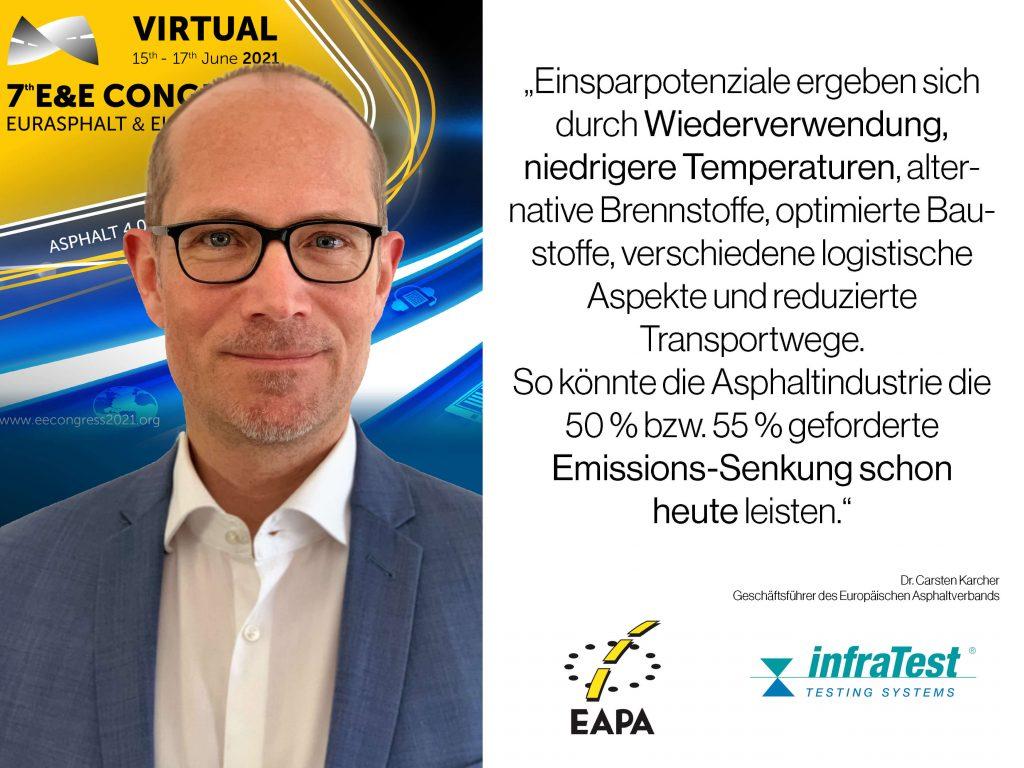 Dr. Carsten Karcher über den Nachhaltigen Einsatz des Baustoffs Asphalt: Recycling Asphalt, Niedrigtemperaturasphalt, Temperaturabgesenkter Asphalt